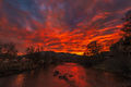 Animas River, Animas River Trail, Colorado, Durango, Landscape, Smelter Mountain, Southwest Colorado, Sunset, Thanksgiving