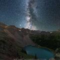 Milky Way, Night Photography, Dallas Peak, 13er, Blue Lake, San Juan Mountains, Colorado, true to experience, long exposure, backpacking