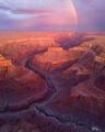 Grand Canyon, River, Rainbow, summer, monsoon, rainstorm, red, Arizona