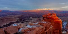 A Canyonlands Sunset Panorama (2020) print