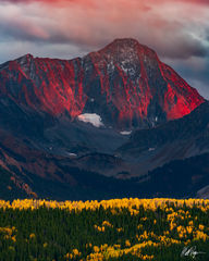 Capitol Peak on Fire (2018) print