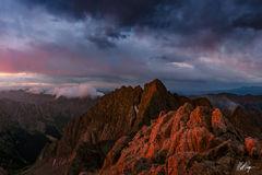 Eolus Peak at Sunrise (2011) print