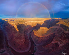 Full Rainbow Over the Grand Canyon (2020) print