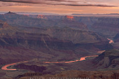 Lazy River Sunrise at the Grand Canyon print