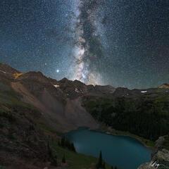 Milky Way and Blue Lake (2020) print