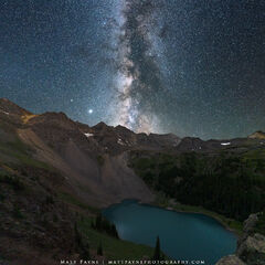 Milky Way and Blue Lake (2020) print