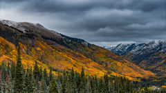Red Mountain Pass Snowy Autumn (2016) print