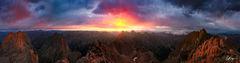 San Juan Sunrise Panorama (2011) print