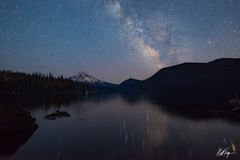 The Galaxy and Mount Hood (2015) print