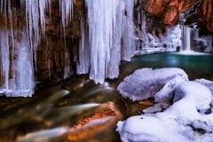 Wintery Cascade Creek Falls (2015) print