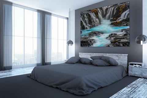bedroom, decor, fine art photography print, iceland