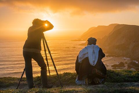 California, Point Reyes, Point Reyes National Seashore, Marin County, coast, coastline, coastal, people, person, photographer...