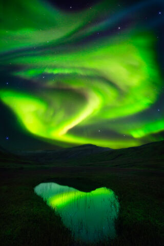Aurora, Godess of Dawn - East Fjords - Iceland