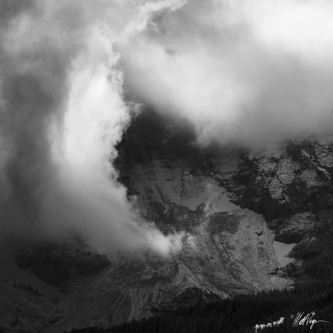 Black and White, Clouds, Colorado, Light, Mountain