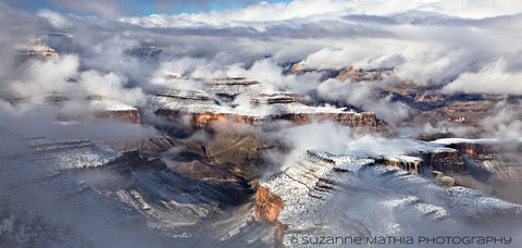 Grand_Canyon, Snow