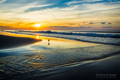 Grand Landscape, Scenic, Reflection on water, Sunrise, Summer, Pawleys Island, South Carolina, Ocean, beach, Clouds