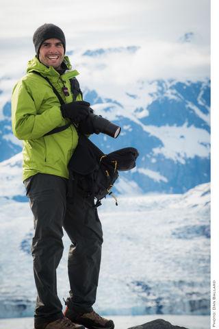 Alaska, Clouds, Color, Columbia Glacier, Dan Ballard, Daylight, Head Shot, Joseph Roybal, Landscape, Profile Picture, Promotional...
