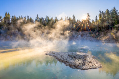 Boiling Springs Lake Morning, Lassen Volcanic National Park - Beth Young