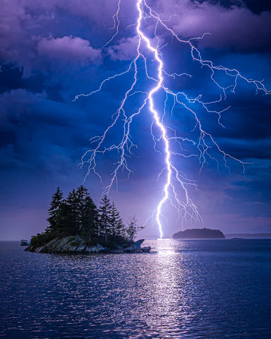 Bolt, Clouds, Electric, Glow, Harpswell, Island, Landscape, Lightning, Lookout Point, ME, Maine, New England, Ocean, Photography, Prints, Reflection, Scenery, Scenic, Sky, Storm, Thunderstorm, USA, We