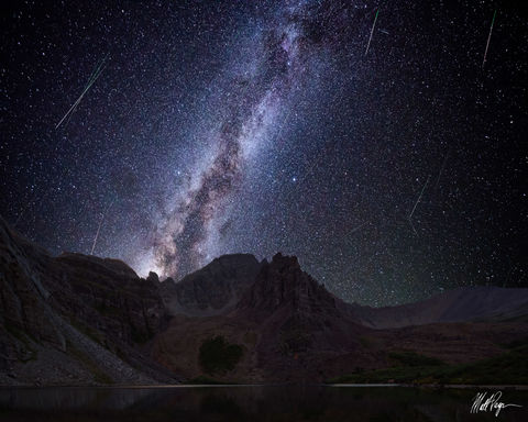 13er, Cathedral Lake, Cathedral Peak, Colorado, Elk Mountains, Milky Way, Mountains, Night, Nightscape, Perseid Meteor Shower, Star-gazing