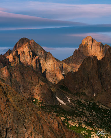 13ers, Colorado, Landscape, Mountains, Needle Range, Pigeon Peak, San Juan Mountains, Sunrise, Turret Peak, Weminuche Wilderness Area