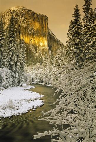 California, Landscape, North America, Sierra Nevada, USA, Winter, Yosemite National Park, Yosemite Valley, seasons, sunset
