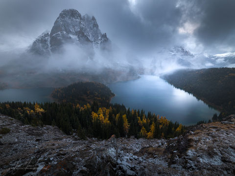 Mount Assiniboine, canada, marc muench, print, sunburst peak