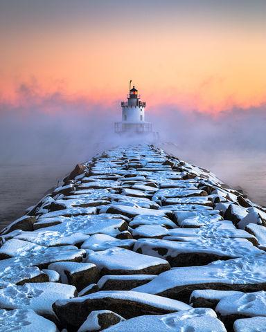 Coast of Maine, Cold, Extreme Weather Photography, January, Landscape Photography, Maine Art, Maine Gifts, Maine Landmark, Maine Landscape Art, Maine Landscape Photography, Maine Lighthouse Art, Maine