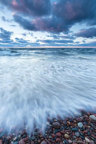 Light, MI, Michigan, USA, art, beach, clouds, day, daytime, dramatic, fine art print, greeting card, lake, landscape, nature, nature photography, outdoor, outside, peninsula, rocks, shore, shoreline,