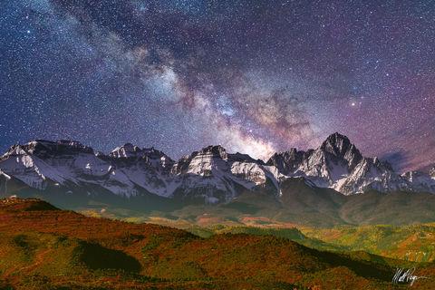 Autumn, Colorado, Fall, Milky Way, Mount Sneffels, Mountains, Night, Nightscape, Ridgway, San Juan Mountains, Stars, 14er