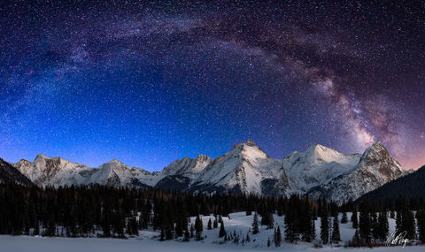 Colorado, Durango, Electric Peak, Graystone Peak, Grenadier Range, Landscape, Milky Way, Molas Lake, Mount Garfield, Mountains, San Juan Mountains, Silverton, Snow, Stars, Vestal Peak