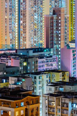 Towering Kowloon - The Block Tower - Hong Kong Fine Art