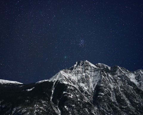 46P/Wirtanen, Colorado, Comet, Durango, Night, Twilight Peak