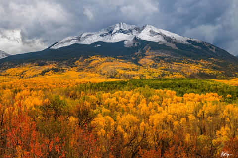 Aspen Trees, Autumn, Clouds, Colorado, Crested Butte, Drama, Fall, Fall Colors, Landscape, Moody, Mountains, Stormy, West Elk Mountains, Landscape Photography
