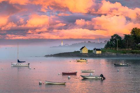 Boats, Clouds, Coast, Colorful, Landscape, ME, Maine, New England, Ocean, Photography, Portland Head Light, Scenery, Scenic, Seascape, Sky, South Portland, Storm, Sunset, Willard Beach, harbor