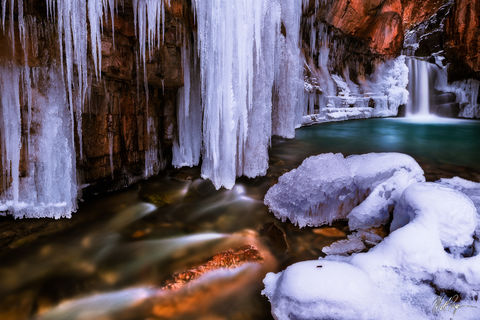 Colorado, Durango, Ice, San Juan Mountains, Southwest Colorado, Waterfall, Winter, Cascade Creek Falls