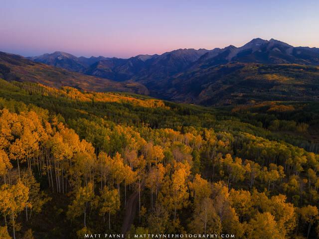 Aspen Trees, Autumn, Carbondale, Colorado, Evening, Fall, Fall Colors, Glow, Landscape, aspen leaves, colorful