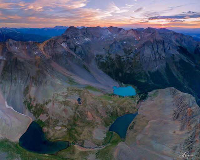 Colorado, Telluride, Ouray, Ridgway, Mountains, San Juan Mountains, Sunset, Blue Lakes