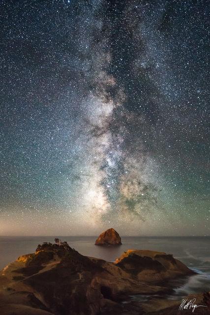 Cape Kiwanda, Coast, Haystack Rock, Landscape, summer, Milky Way, Night, Nightscape, Ocean, Oregon, Pacific City, Pacific Northwest, Stars