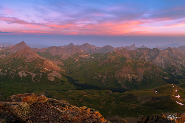 14er, Colorado, Lake City, Mountains, San Juan Mountains, Smoke, Sunrise, Uncompahgre Peak, Wetterhorn Peak, haze