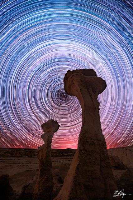 Bisti Badlands, De-Na-Zin Wilderness, Hoodoo, Hoodoos, Landscape, Long Exposure, New Mexico, Nightscape, North Star, Polaris, Star Trails, Stars, Wilderness, desert, E.T.