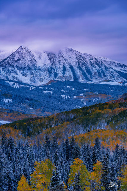 Autumn, Colorado, Crested Butte, Fall Color, Kebler Pass, Landscape, Mountains, east beckwith mountain, snow
