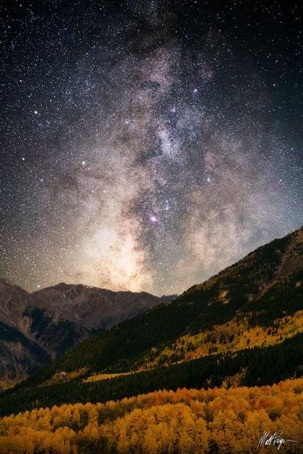 Aspen Trees, Autumn, Colorado, Fall, Fall Colors, Landscape, Milky Way, star