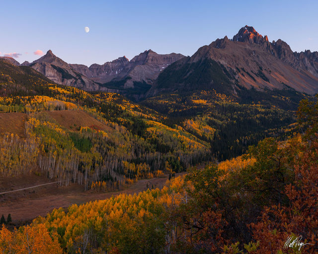 14er, Aspen Trees, Autumn, Cirque Mountain, Colorado, Fall, Fall Colors, Landscape, Moon, Mount Ridgway, Mount Sneffels, Mountains, Ridgway, Sunset, Teakettle Mountain, San Juan Mountains