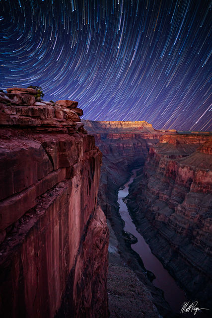 Arizona, Astro-landscape, Colorado River, Grand Canyon, Landscape, Night, Nightscape, Rock, Southwest, Spring, Star Trails, Stars, Toroweap, astrophotography, canyon wall, desert, meteoric