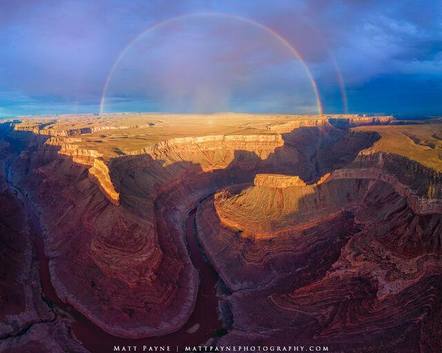Grand Canyon, rainbow, sunset, Arizona