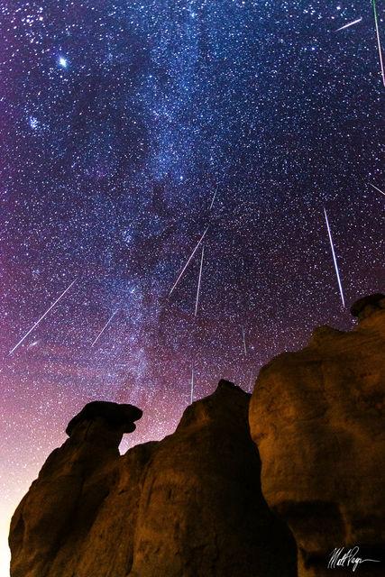 Colorado, Colorado Springs, Geminid Meteor Shower, Meteor, Milky Way, Night, Nightscape, Paint Mines, Calhan, Stars, Wonder, shooting star