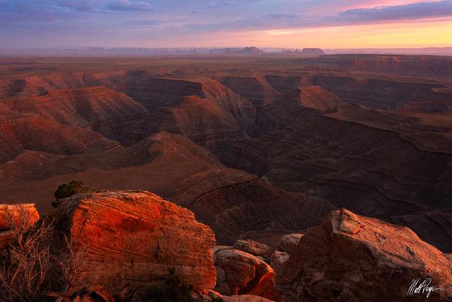 Glow, Goosenecks, Grand Scenic, Monument Valley, Muley Point, San Juan River, Southwest, Sunset, Utah, desert