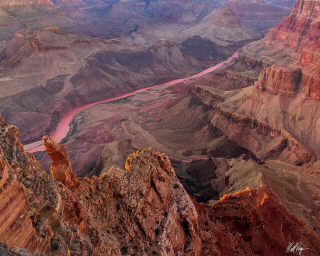 Arizona, Cliffs, Colorado River, Grand Canyon National Park, Sunset, layers, pinnacle