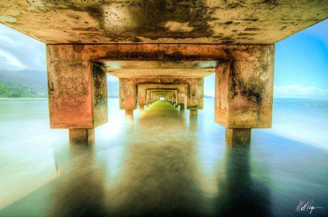 Hanalei, Hanalei Pier, Hawaii, Kauai, water